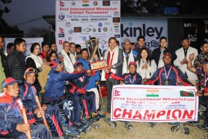 Nepal wins International Wheelchair Cricket - Khel Dainik