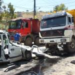 حادث السير بين شاحنة وسيارة رابيد