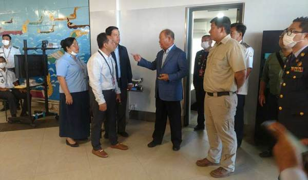 Health Minister visits Preah Sihanouk airport after the first Novel Coronavirus infection