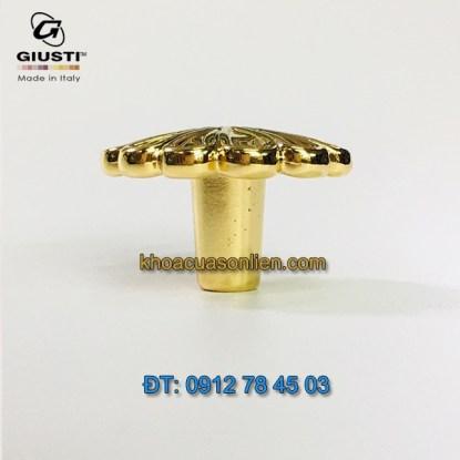 Báo giá Tay nắm tủ bếp tân cổ điểm mạ vàng 24K Maniglia Zama 30mm của hãng Giusti - Italia