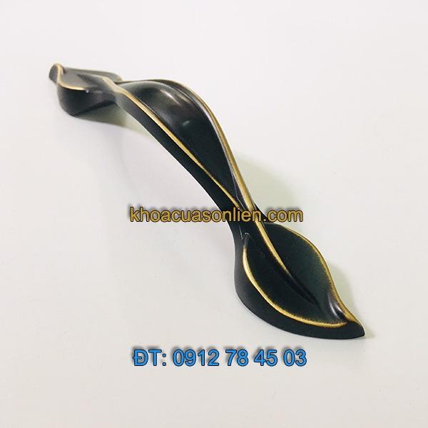 Nơi bán Tay nắm tủ bằng đồng sơn tĩnh điện hình lá 88120 - 96mm tại Hà Nội
