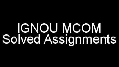 IGNOU MCOM Solved Assignments
