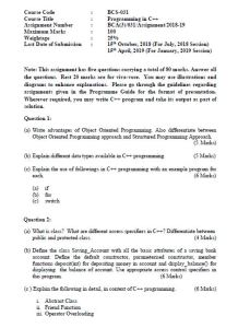 BCS-031 Solved Assignment For BCA 3rd Semester IGNOU