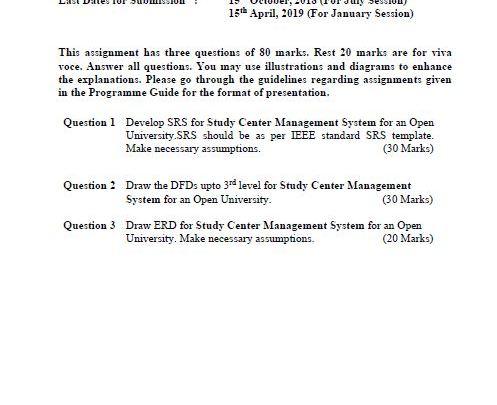 MCS-014 Solved Assignment IGNOU BCA MCA 2018 2019 PDF Solution