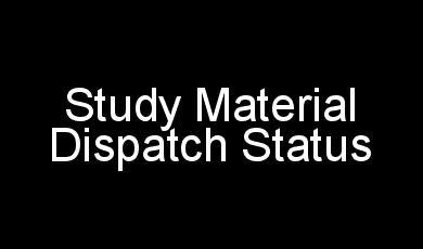 IGNOU Study Material Dispatch Status 2018 2019