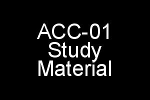 ACC-01 Study Material (Organising Child Care Services) In PDF (Softcopy)