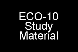 ECO-10 Study Material For IGNOU BCOM Elements of Costing English Medium in PDF