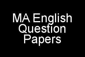 MA English MEG Question Papers of Previous Terms in PDF