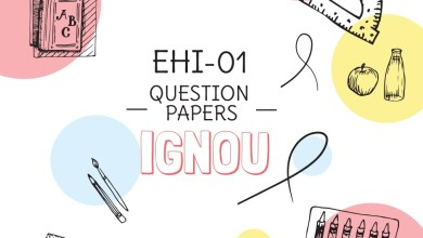 EHI-01 Question Papers of Previous Exams