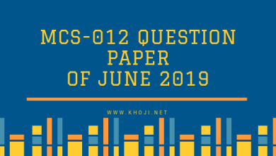 MCS-012 Question Paper Of June 2019