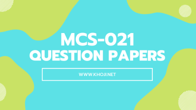 MCS-021 Question Papers of Previous Exams