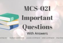 MCS-021 Important Question Answers