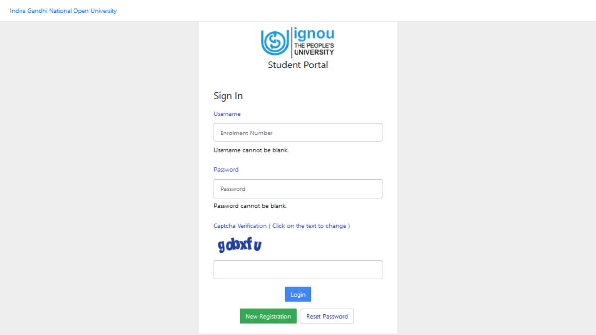 IGNOU Re-Registration Portal July 2020 Session