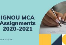 IGNOU MCA Assignments 2020-2021
