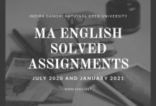 IGNOU MA English Solved Assignments 2020-21 Session