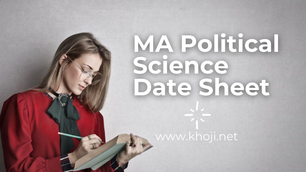 IGNOU MA Poltical Science Date Sheet