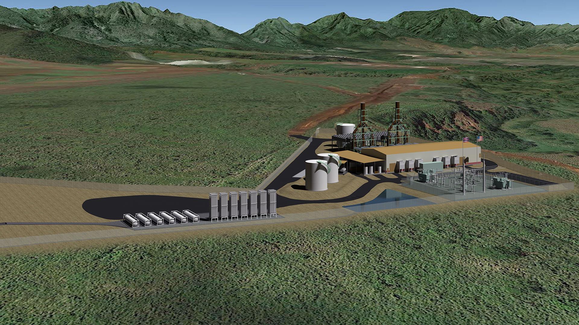 schofield power plant rendering heco_95917