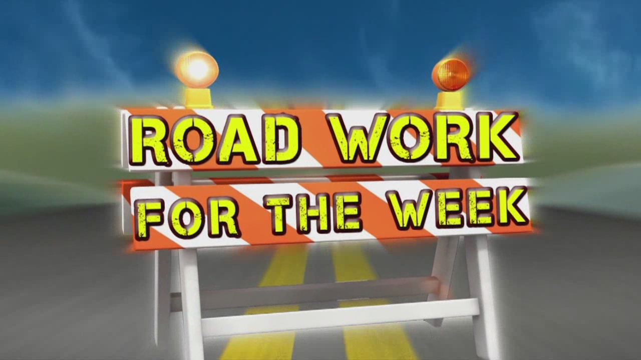 Road Work for the Week, July 18-25