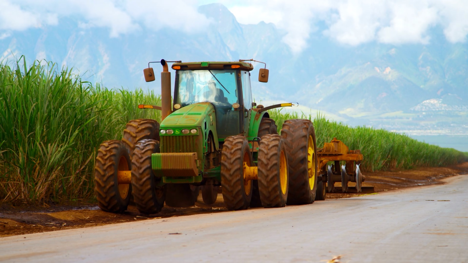 hcands sugar plantation alexander baldwin sugarcane field tractor maui_137238