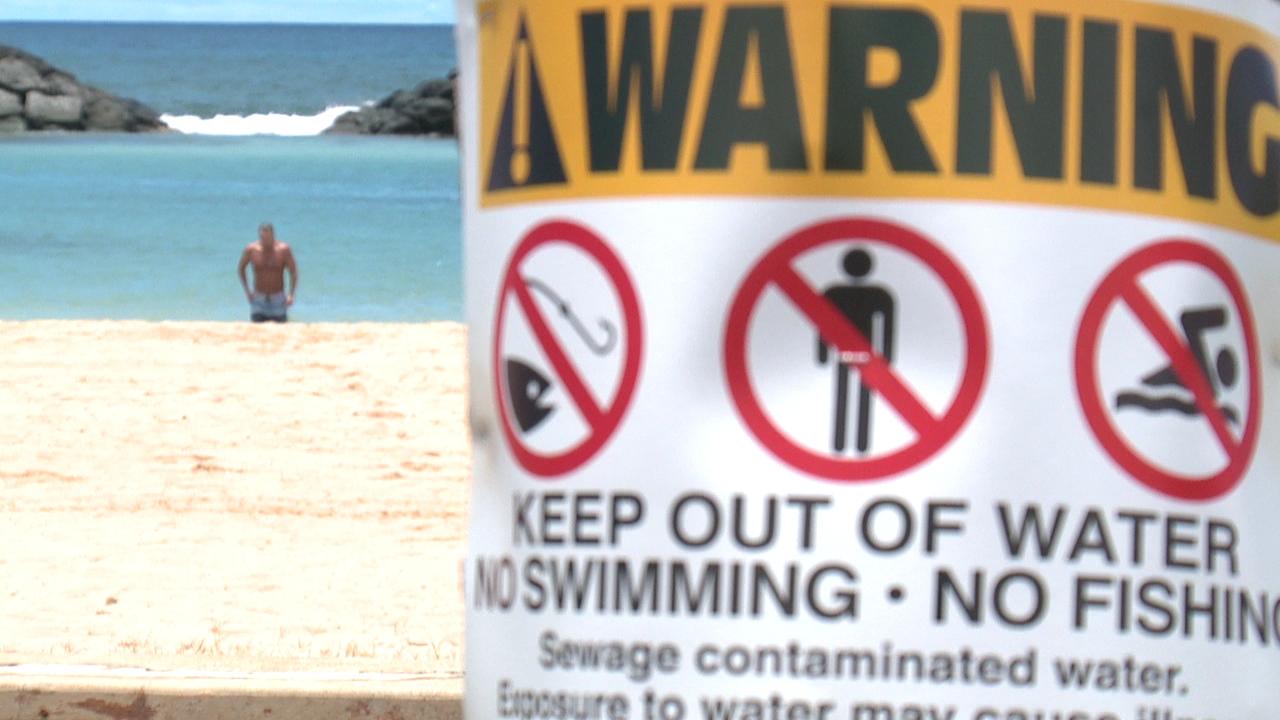 Sewage warning sign 2_169547