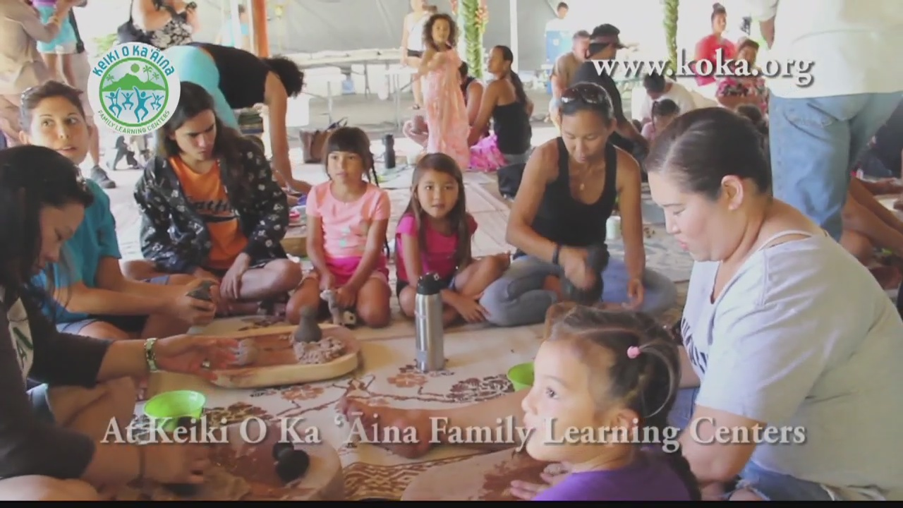 Strengthening families with traditional poi pounding classes