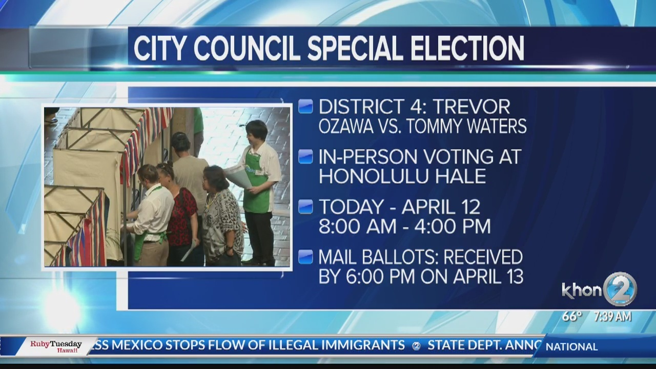 Walk-In Voting begins for City Council District IV Special Election