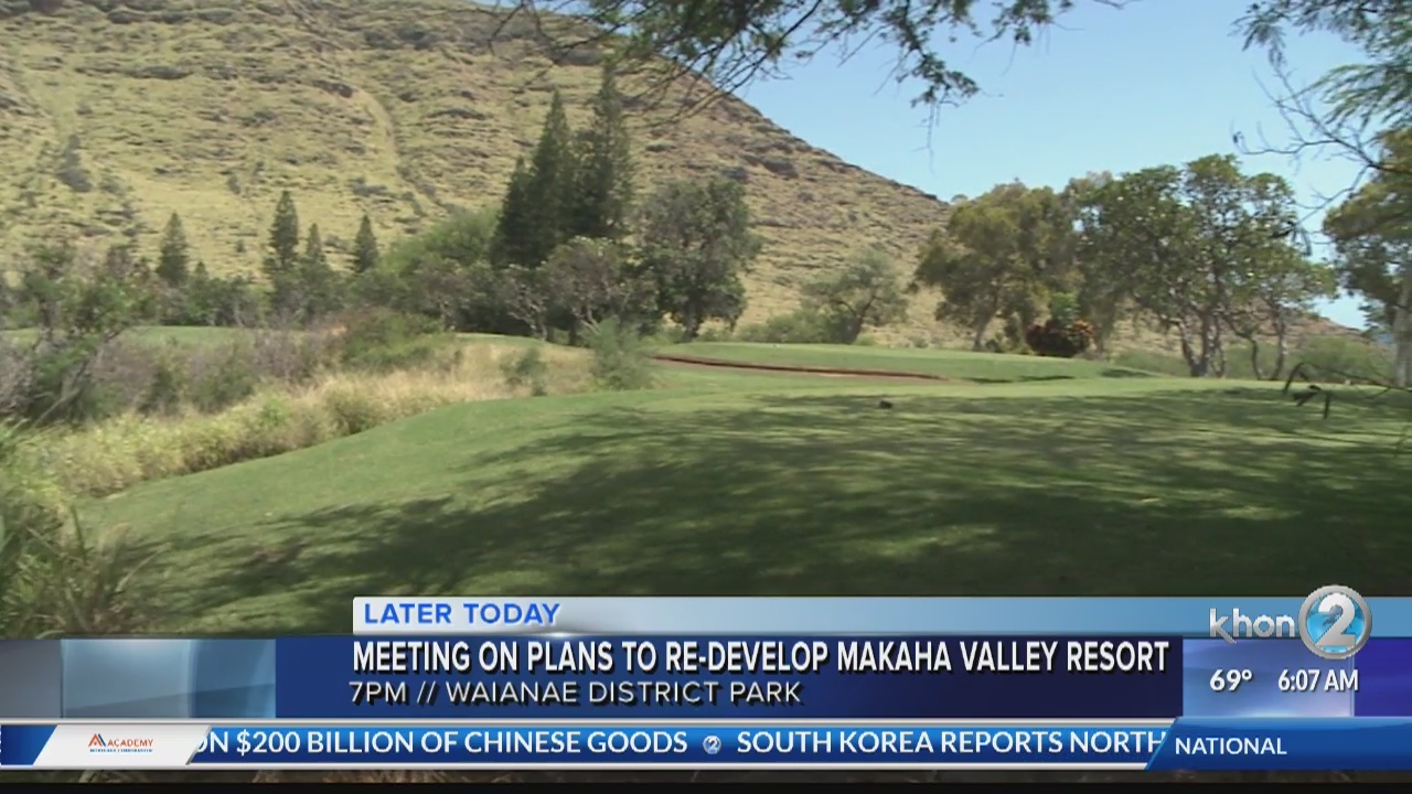 The Waianae Neighborhood Meeting will discuss the future developments of Tiger Woods Golf Course