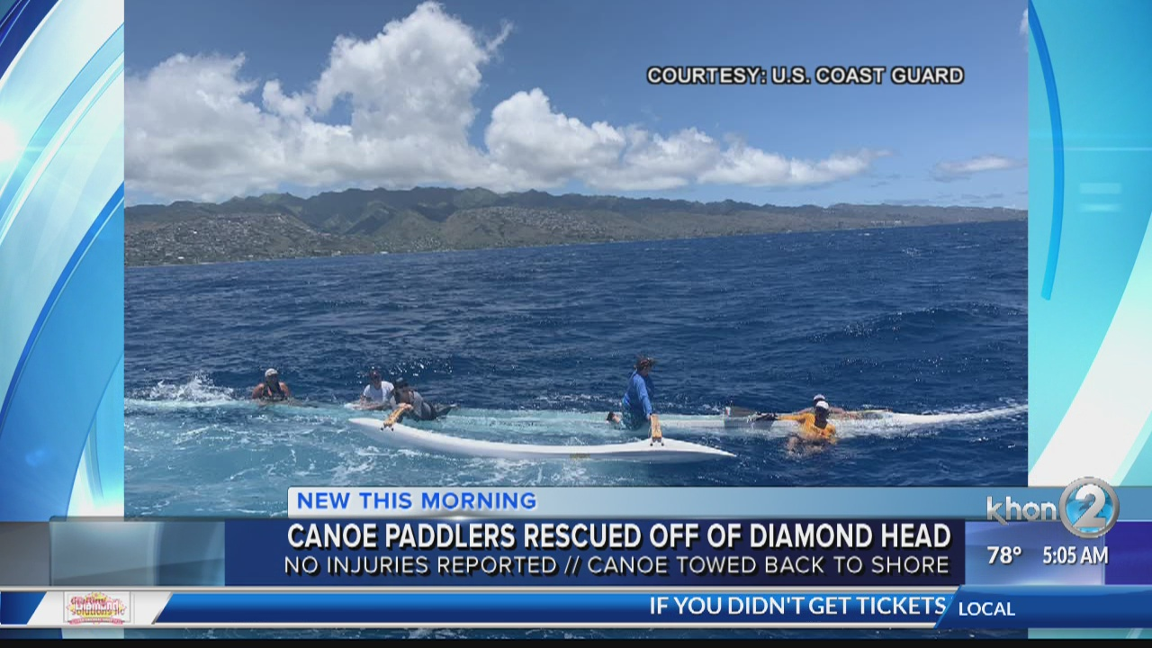 Canoe paddlers rescued off of Diamond Head | KHON2