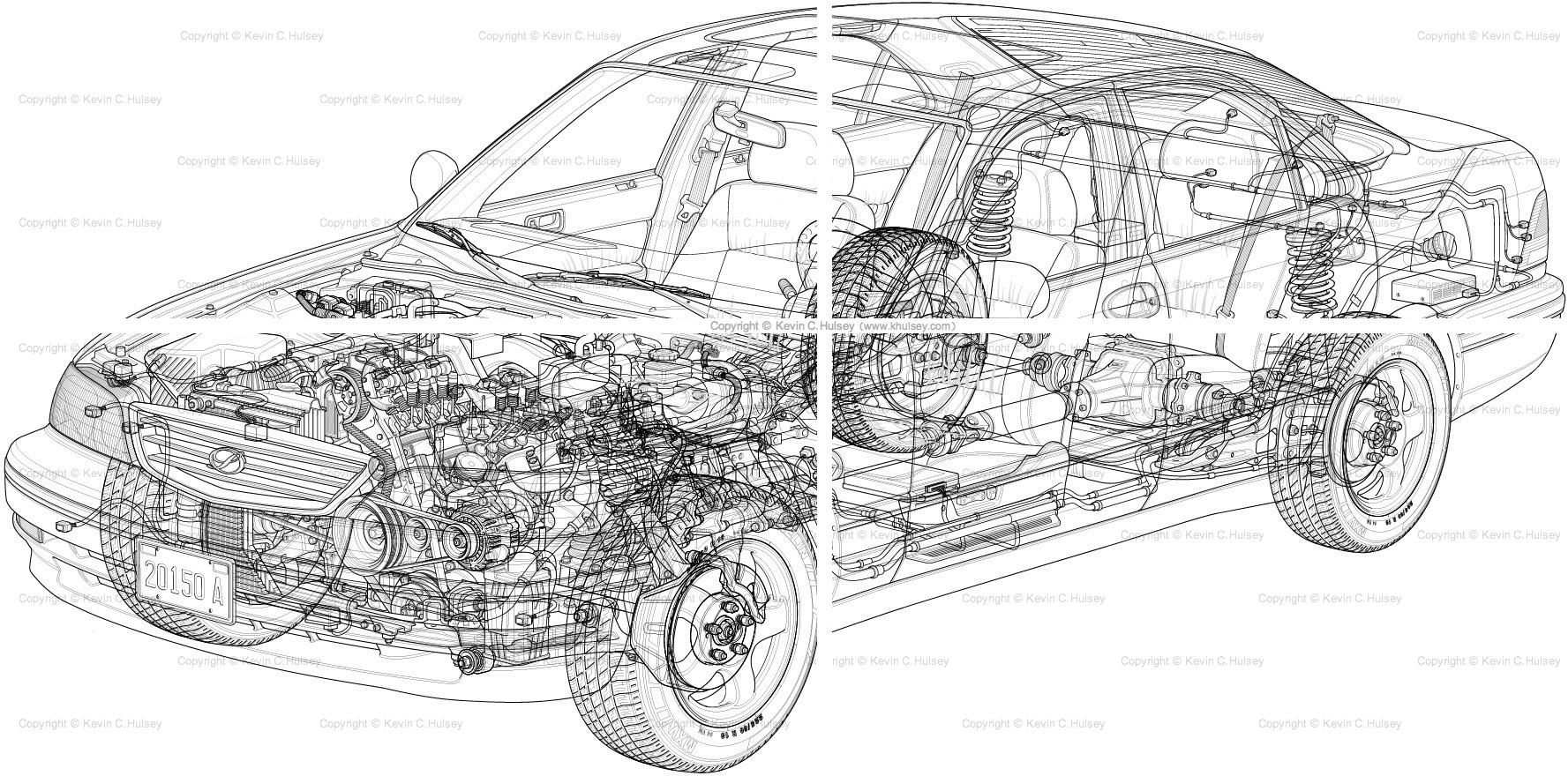 Generic Car Cutaway Sedan