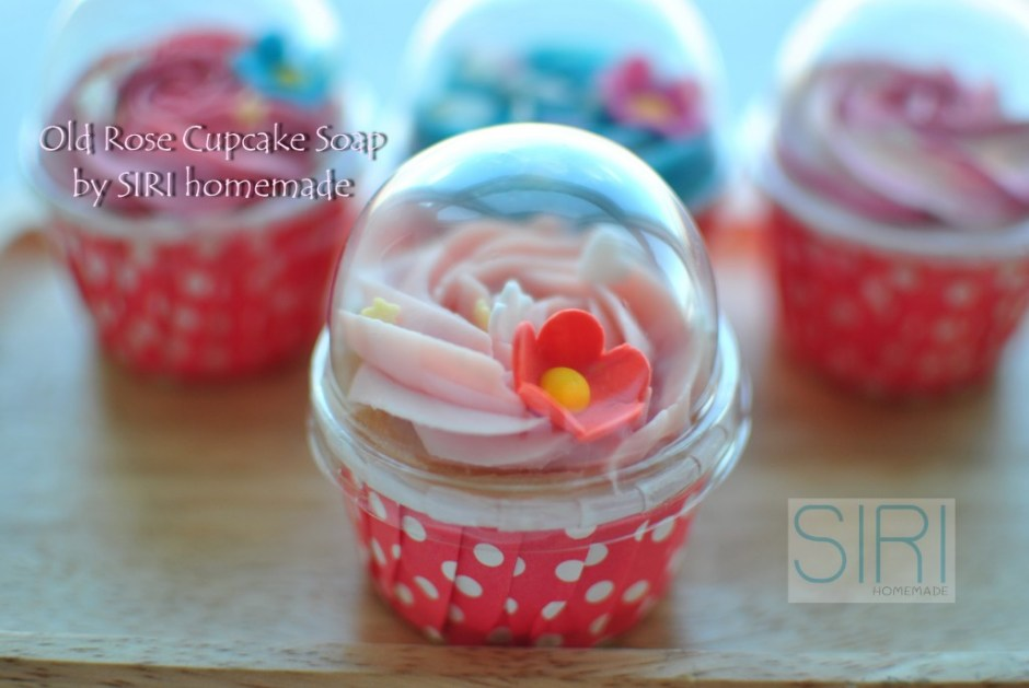 Old rose Cupcake Soap