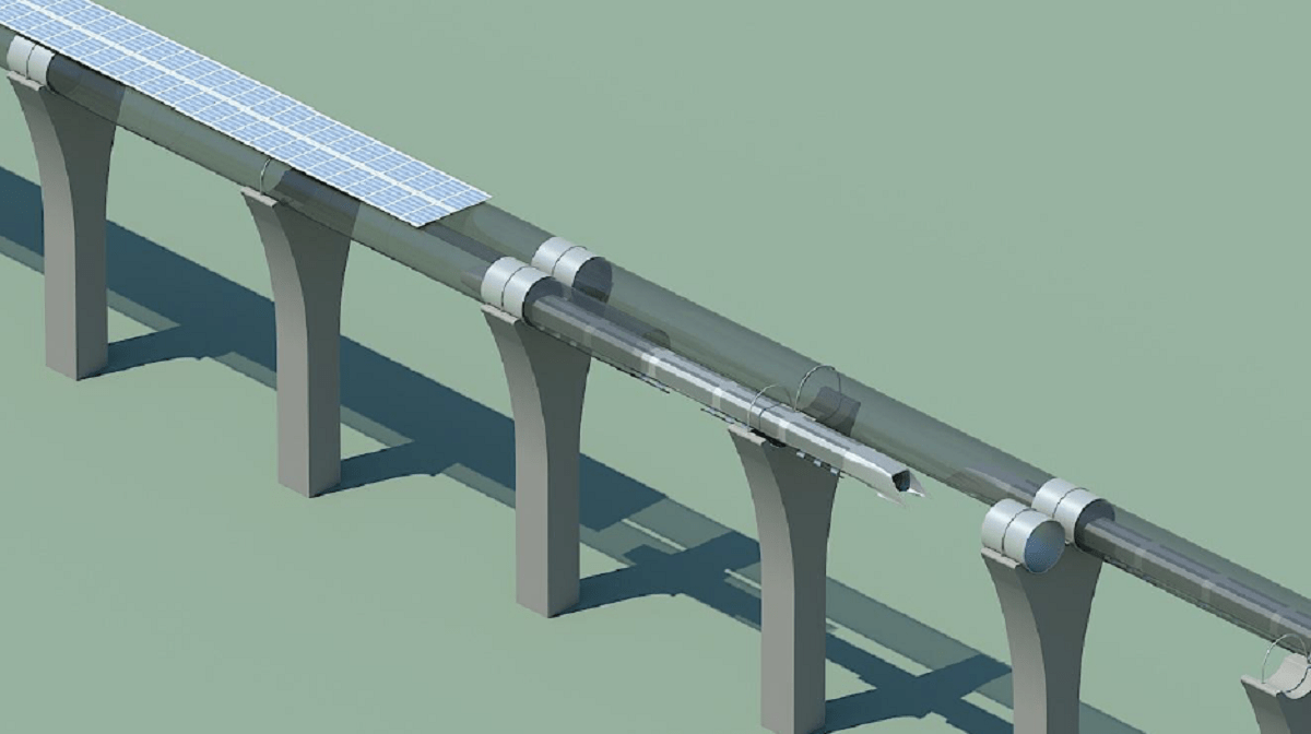 Tube with Solar roof