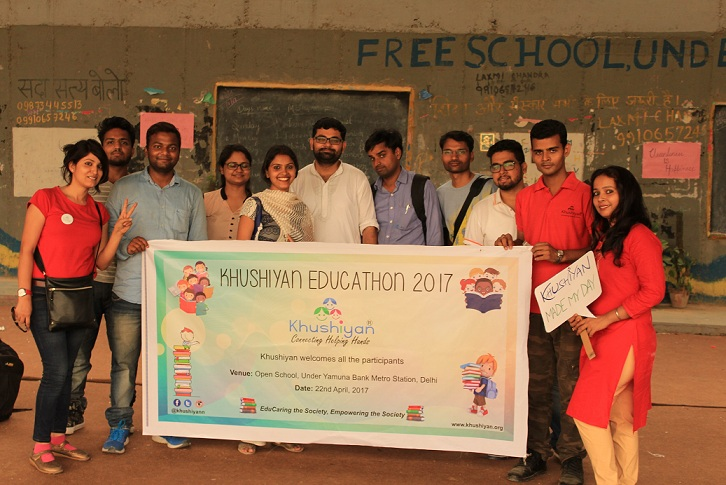 Khushiyan Educatthon 2017 At Open School under Yamuna Bridge Metro, Delhi on 29 Apr