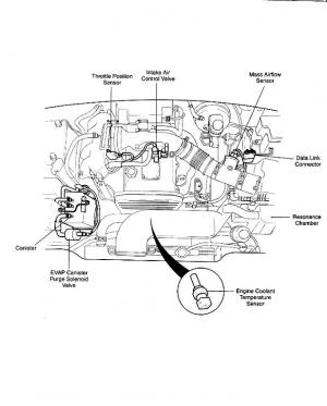 Engine diagram showing throttle body? 2000 Sportage  Kia