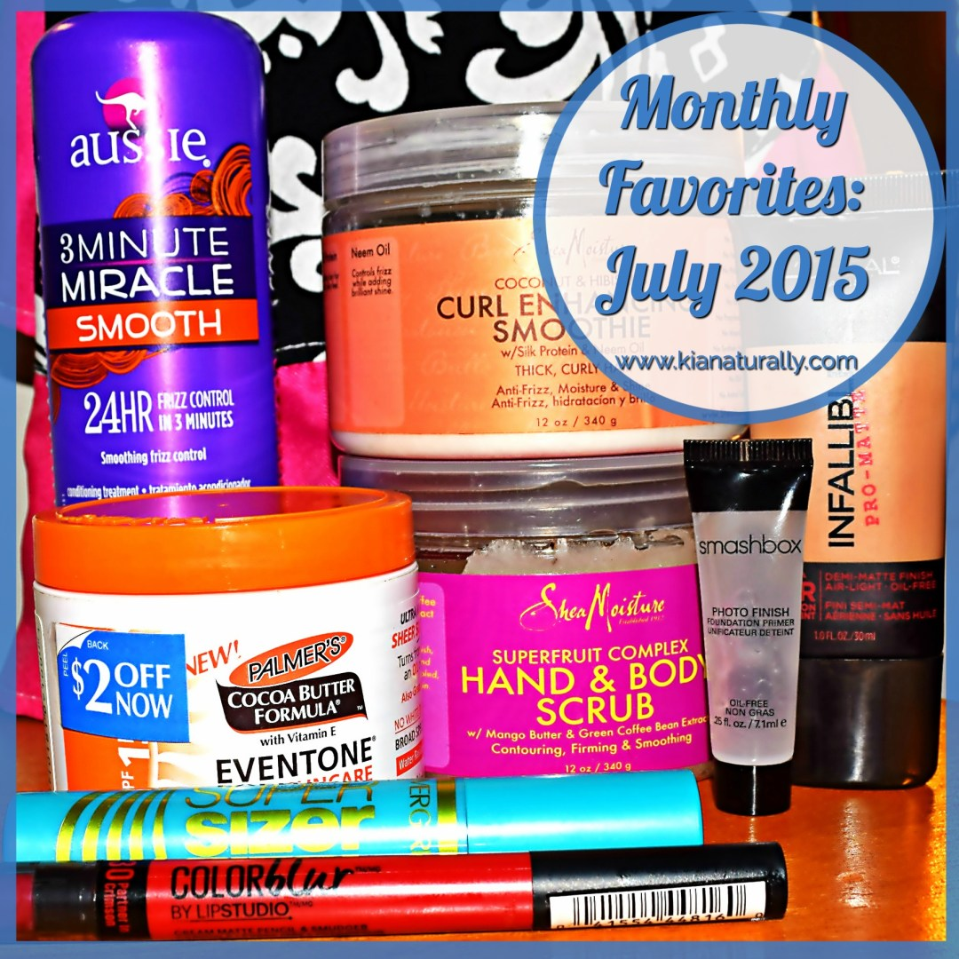 Monthly Favorites: July 2015 - www.kianaturally.com