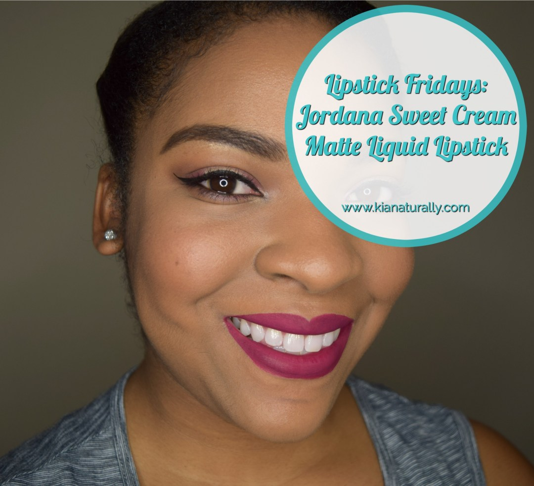 Lipstick Fridays: Jordana Sweet Cream Matte Liquid Lipstick - www.kianaturally.com