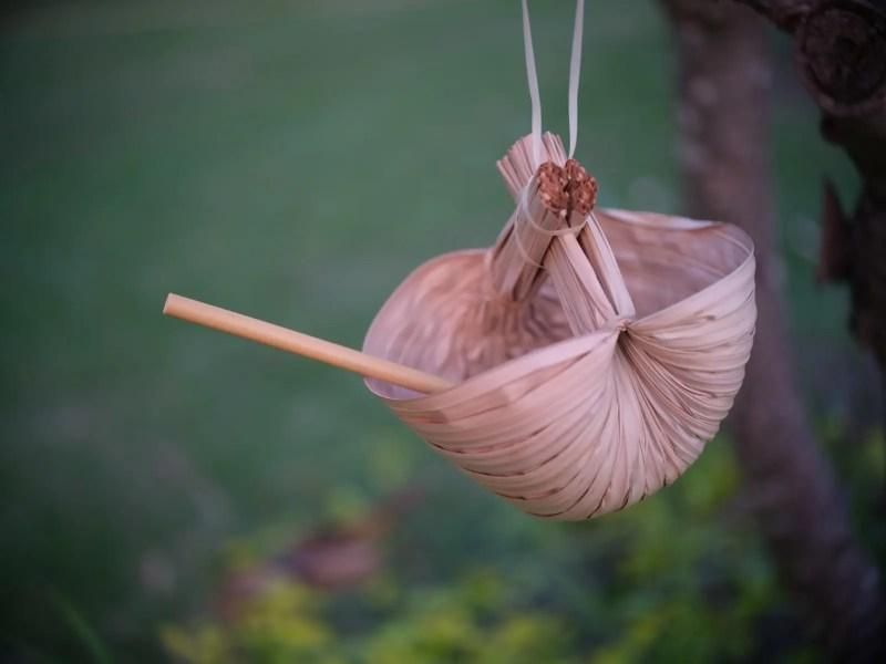 Bambus-Trinkhalme in Schale von Kibala
