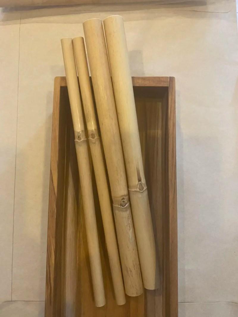 Schilf-Trinkhlame (gross und klein) in Holzbox