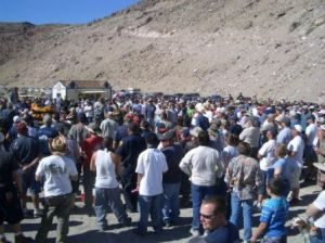 Crowd at the Blake Jones Trout Derby, an event that has received Grant Funding
