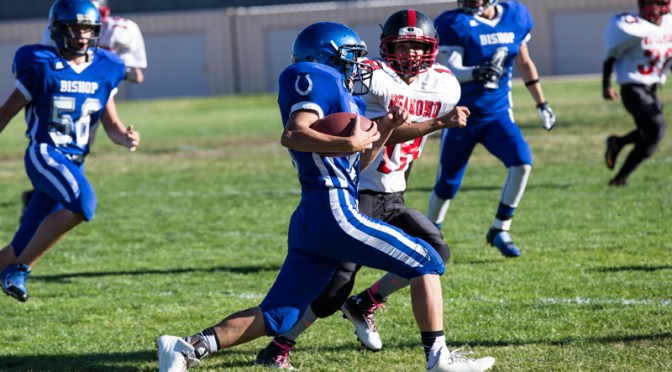 Broncos JV Football vs. Rosamond at Bishop, 2014