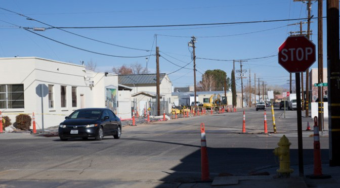 Paving Begins on Bishop's Warren Street