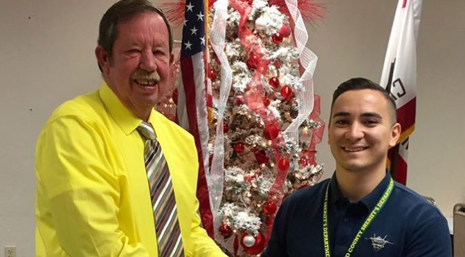 Bishop Welcomes Deputy Sheriff Trainee
