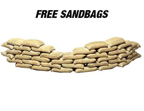 Sandbags/Inyo County Sheriff's Office
