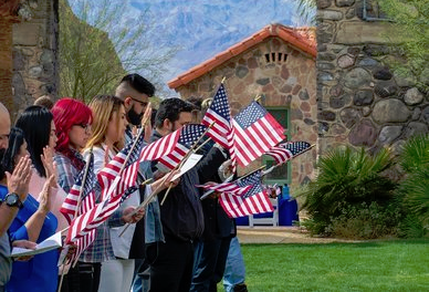 Death Valley Hosting Naturalization Ceremony