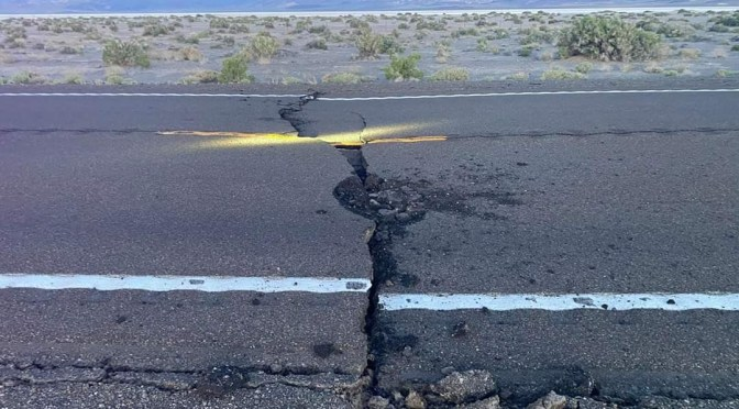 NDOT Extends Closure to Highway 95 Near Tonopah Due to 6.5 Earthquake