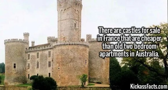 2617  France Castles-There are castles for sale in France that are cheaper than old two bedroom apartments in Australia.