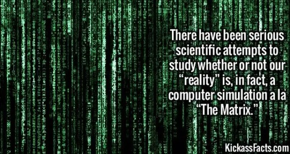 """2484 Matrix-There have been serious scientific attempts to study whether or not our """"reality"""" is, in fact, a computer simulation a la """"The Matrix."""""""