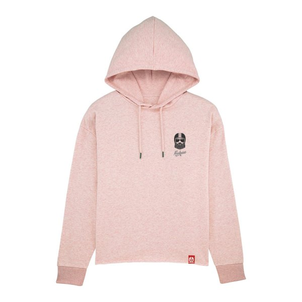 Sweat à capuche Kickasss Driver Broderie cream heather pink