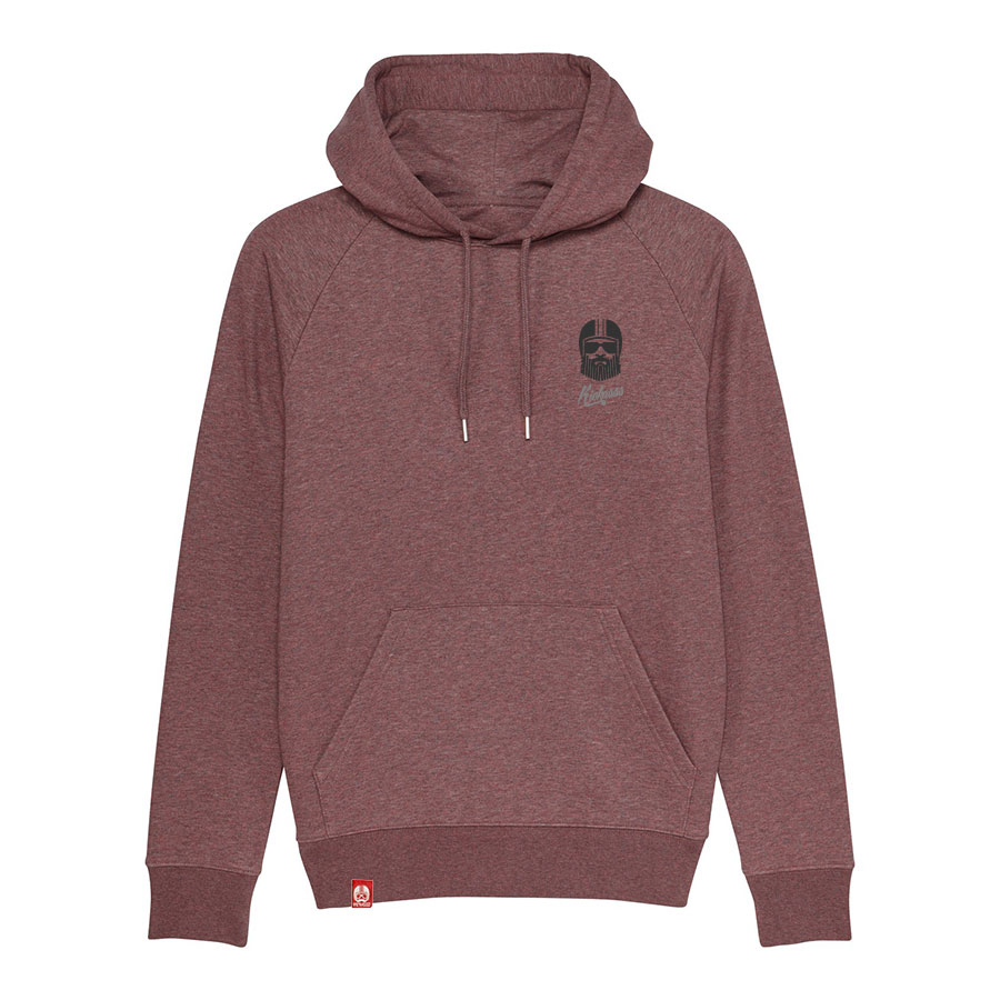 sweat à capuche kickasss driver black heather cranberry