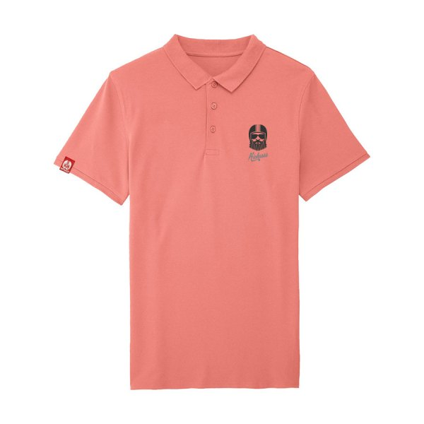 polo kickasss driver broderie flamingo pink