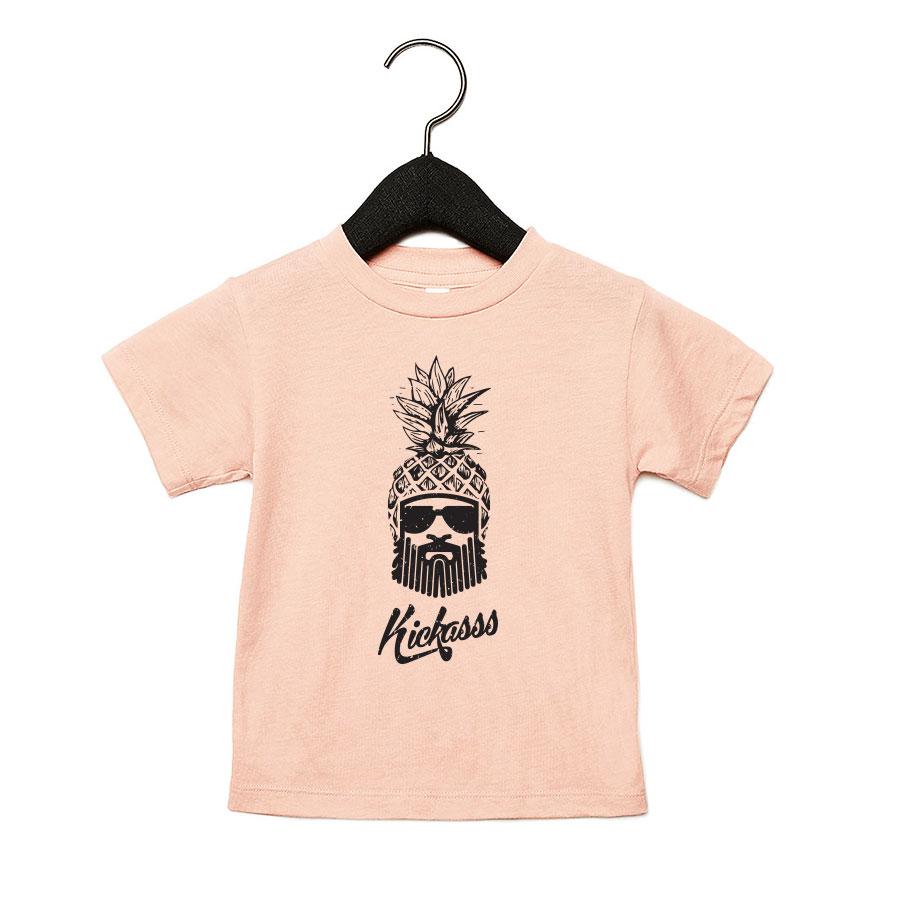 T-shirt bébé moto Ananas Driver (peach)